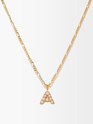 Otiumberg Alphabet Pearl & 14kt Gold-vermeil A-m Necklace - Pearl