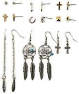 Arizona 9 Pair Clear Earring Sets