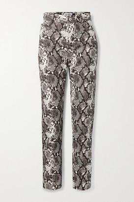 ATTICO Snake-print High-rise Straight-leg Jeans - Snake print