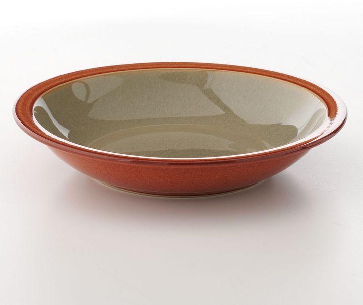 Denby fire sage & cream soup bowl