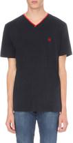 The Kooples V-neck cotton-jersey t-shirt