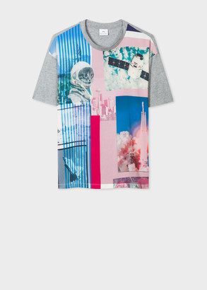Paul Smith Women's 'Space Collage' Print T-Shirt