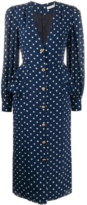 Alessandra Rich Polka-Dot Print Dress