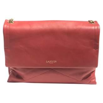 Lanvin Sugar Red Leather Handbags