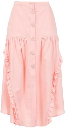 Martha Medeiros Midi Asymmetrical Trousers
