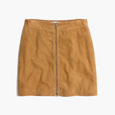 Madewell Suede Zip Mini Skirt