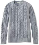 L.L. Bean L.L.Bean Double L Mixed-Cable Sweater, Crewneck