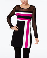 INC International Concepts Illusion Colorblocked Tunic, Only at Macy's