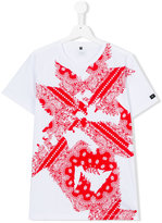 Armani Junior teen paisley print T-shirt