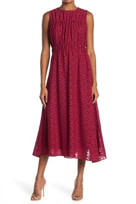 Taylor Solid Foullard Midi Dress