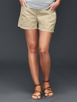 Demi panel twill summer shorts