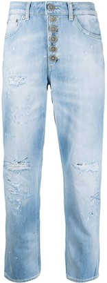 Dondup Distressed-Effect Mid-Rise Cropped Jeans