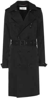 Saint Laurent Cotton-blend trench coat