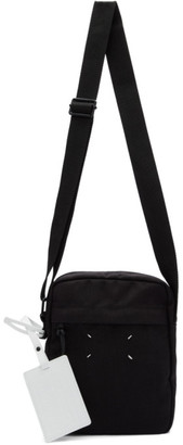 Maison Margiela Black Canvas Messenger Bag
