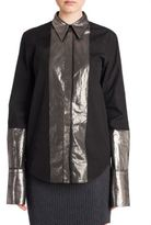 Jil Sander Metallic Long Sleeve Cotton Shirt
