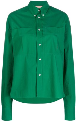 Plan C Oversized Long-Sleeve Shirt