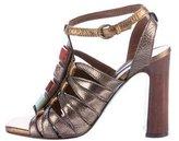 Nanette Lepore Metallic Embellished Sandals