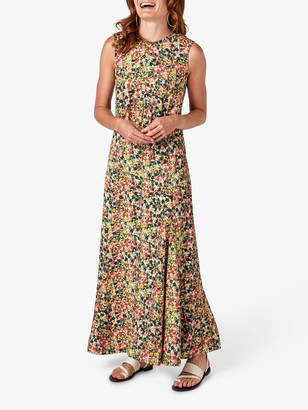Jigsaw Rainbow Ditsy Floral Print Maxi Dress, Multi