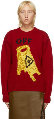 Off-White Red Pascal Wet Floor Sweater