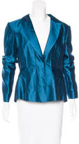 Alberta Ferretti Silk-Blend Notch-Lapel Blazer