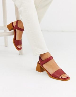 Camper Karolina block heel sandals in tan