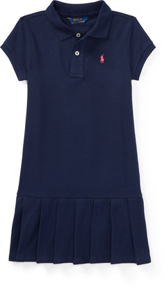Ralph Lauren Pleated Cotton Polo Dress