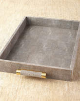 AERIN Chocolate Shagreen Rectangular Tray