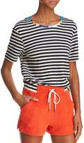 Splendid x Margherita Color-Block Trim Striped Tee