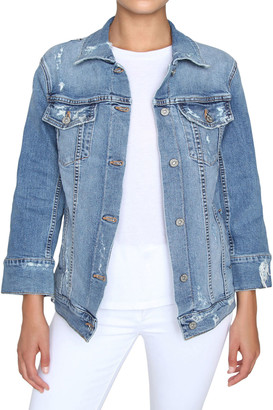 James Jeans Tucker Distressed Denim Trucker Jacket
