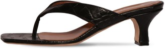 Paris Texas 45MM CROC EMBOSSED LEATHER THONG SANDAL