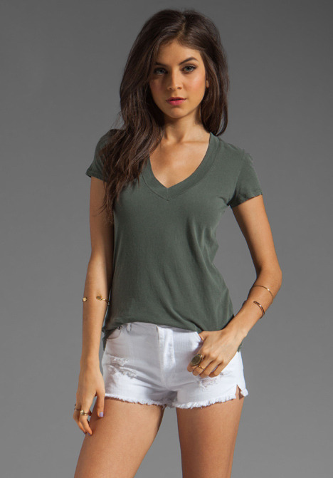 James Perse Short Sleeve Casual V Neck Tee
