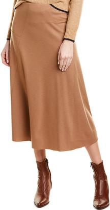 Vince Paneled Wool-Blend Skirt