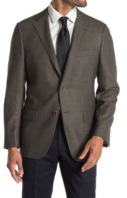 Hickey Freeman Regular Fit Textured Suit Jacket