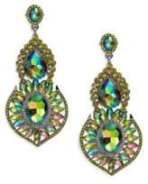 Green chandelier earrings best earring 2017 tasha chandelier earrings hemae emerald green in lyst mozeypictures Choice Image