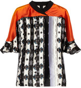 Peter Pilotto Ava printed silk-twill blouse