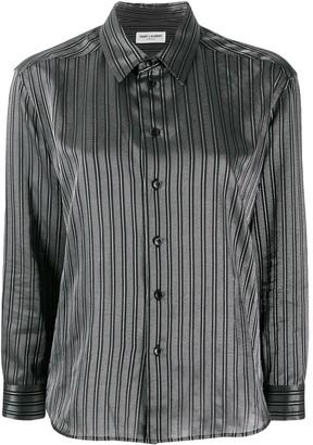Saint Laurent Striped Boxy Shirt