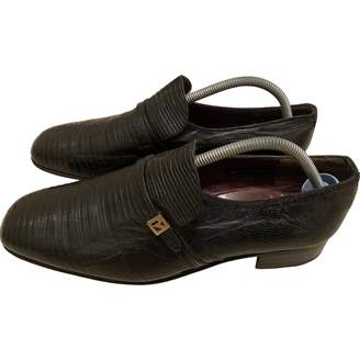 Fratelli Rossetti Black Crocodile Flats