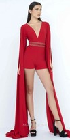 Mac Duggal Cathedral Long Sleeve Embellished Romper