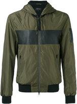 Mackage contrast bomber jacket - men - Cotton/Polyester/Spandex/Elastane/Rayon - 42