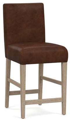 Pottery Barn Oliver Leather Bar & Counter Stools