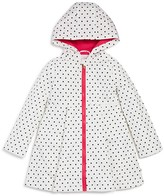 Kate Spade Girls' Hooded Dot Raincoat - Sizes 7-14