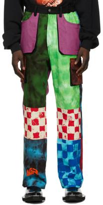 AGR SSENSE Exclusive Multicolor Tie-Dye Logo Cargo Pants
