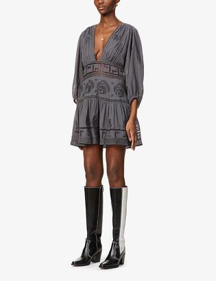 Free People V-neck cotton mini dress