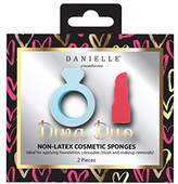 Danielle Creations 2-Piece Ring and Lipstick Shaped Non-Latex Makeup Blending Sponges