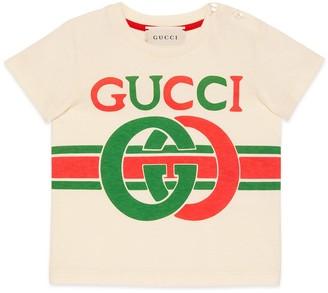 Gucci Baby crocodile print cotton T-shirt