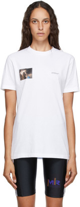 Off-White White Caravaggio Angel Slim T-Shirt