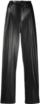 Erika Cavallini Loose Fit Faux Leather Trousers
