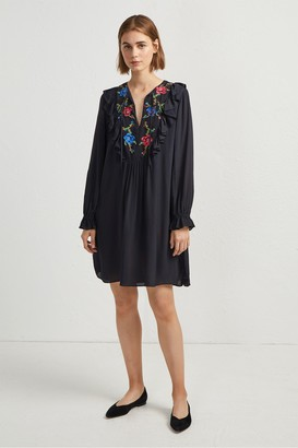 French Connection Elishia Embroidered Dress