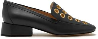 Mulberry Poppy Eyelet Loafer Black Smooth Calf