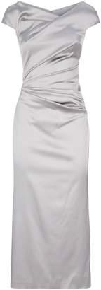 Talbot Runhof Off-The-Shoulder Midi Dress